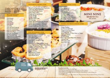 DO5. Catering Mini Nine Drop Off