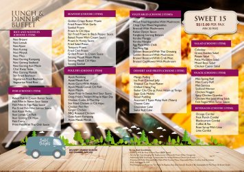 C4. Catering Sweet 15